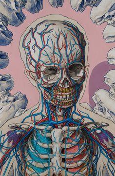 Expulsion Series by Michael Reedy - growth - Funny Cartoon Illustrations by Patrick Moore - Human Anatomy Art, Anatomy Drawing, Medical Illustration, Illustration Art, Cartoon Illustrations, Medical Wallpaper, Brain Art, Posca Art, Medical Anatomy