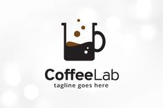 Coffee Lab Logo Template Templates This logo is great for coffee shop, cafe or any other business---Logo Details:- Full color logo ( by gunaonedesign Coffee Shop Logo, Coffee Branding, Coffee Business, Business Logo, Coffee Lab, Lab Logo, Restaurant Logo Design, Typographic Logo, Logo Sign