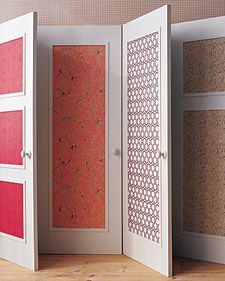 Many home projects can be done yourself! Search through our selection of DIY home projects and learn how start yours today. Wallpaper Door, Wallpaper Ideas, Wallpaper Panels, Wallpaper Samples, Martha Stewart Home, Diy Casa, Closet Doors, Wardrobe Doors, Room Doors