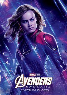 Captain Marvel Brie Larson Carol Danvers 2019 Movie Silk Poster 12x18 24x36 028
