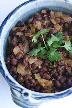 Spicy Black Beans, Peruvian-style - Frijoles Escabechados
