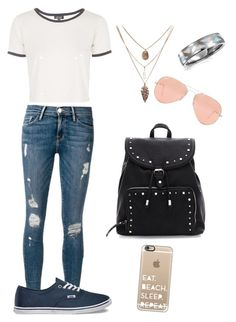 """""""Pretty Punk- hack set by @jessicawednesday"""" by geeklychic13 on Polyvore featuring Frame Denim, Casetify, Ray-Ban, Bling Jewelry, Topshop and Vans"""