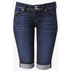 Hudson Jeans Palerme Cuffed Short ($170) ❤ liked on Polyvore