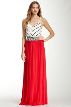 S.H.E. Embroidered Colorblock Maxi Dress by Assorted on @HauteLook