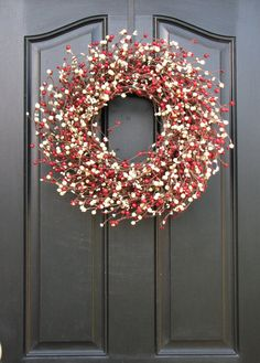 Christmas Berry Wreath Holiday Wreaths Holiday by twoinspireyou