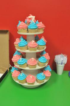 Twins boy - girl cupcakes