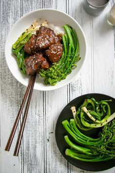 """Pull out that Crock-Pot! It's time for some homemade Chinese """"take-out"""" that basically cooks itself. Tender, pull-apart, sweet, tangy, saucy beef will be waiting for you at home the minute you walk in the door."""