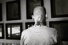 #tattoo #tatuaje #spider #araña #blackandwhite #blancoynegro #photography #photooftheday #fotografia #back #studio #art #arte #artistas #ink #tinta