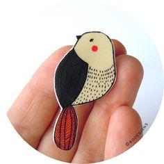 Distintivo pin  spilla  uccello di BodesignsSHOP su Etsy