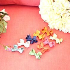 Paris Barrette - Apricot, Brown, Orange Red, Pastel Pink, Pink, Gold, Pistachio, Green, Navy, Sapphire