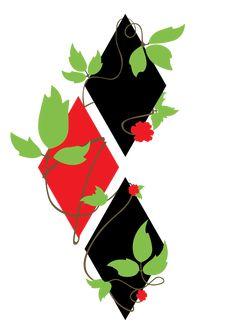 Here's the Harlivy symbol design I made for this comic. Harley Tattoos, Harley Quinn Tattoo, Harley Quinn Drawing, Joker And Harley Quinn, Poison Ivy Tattoo, Arlequina Margot Robbie, Gotham Girls, Gotham Batman, Batman Art