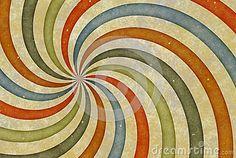 Vieja imagen del dibujo del vintage con las rayas del rizo. CCB de papel de la textura