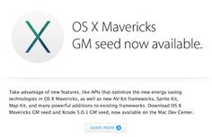 Apple seeds Gold Master version of OS X Mavericks to developers - Tech News and Latest Mobile Reviews