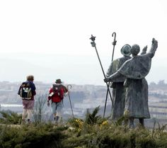 El Camino de Santiago de Compostela, The Way of St. James Pilgrimage.