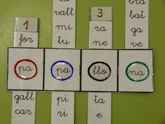 Confegir paraules per síl·labes Preschool Education, Cvc Words, Diy For Kids, Worksheets, Literacy, Spanish, Classroom, Teaching, Activities