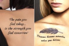 Meaningful tattoos for women can have different messages associated with them. Buzzle provides a few feminine designs that could be sported.