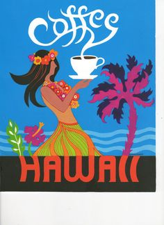Coffee Creations.: Hawaii by Simboli on Etsy