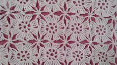 Crochet Square Blanket, Crochet Squares, Crochet Motif, Crochet Shawl, Crochet Flowers, Free Crochet, Crochet Stitches Patterns, Lace Patterns, Crochet Designs