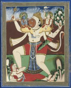 Cosmic Form of Hanuman Christie's The Cosmic Form of Hanuman Possibly Jaipur, Late Century Gouache heightened with gold on. Indian Music, Indian Art, Indian Style, Sita Ram, Flat Background, Tiny Tales, Mother Goddess, Hindu Deities, Hindu Art