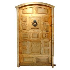 Antique Door from Northern Spain with Cast Iron Hardware | From a unique collection of antique and modern doors and gates at https://www.1stdibs.com/furniture/building-garden/doors-gates/