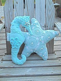 Nautical Vintage Chenille Seahorse - Etsy