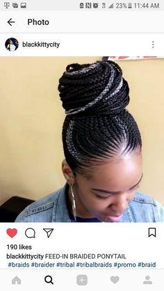 African hair weaving my hair Braided Cornrow Hairstyles, Braided Hairstyles For Black Women, African Braids Hairstyles, African Hair Braiding, Cornrows Updo, African Braids Styles, Braid Ponytail, Black Girl Braids, Braids For Black Hair