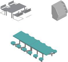 Bloc Autocad pour cafétéria 3d | Génie civil et Travaux Publics Engineering