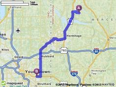 Driving Directions from 154 Hamburg Rd, Transfer, Pennsylvania 16154 to Four Seasons Flea Market in Youngstown, Ohio 44505 | MapQuest