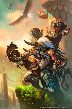 World of Warcraft Art. Taurens and Thunderbluff ftw! By wei wang