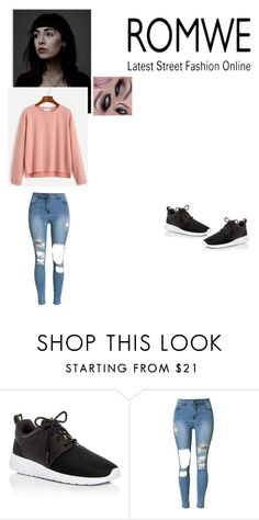 """""""Simple and pink"""" by lingering-souls-vocals1 ❤ liked on Polyvore featuring NIKE"""