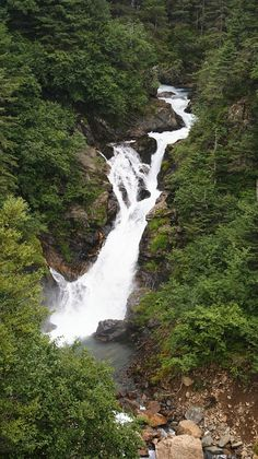 Ebner Falls, on Perserverance Trail Juneau, Alaska: Summer or Fall is the best time to hike this 3 mile (3-4 hours roundtrip), 700 feet gain trail. It is considered an easy trail and is in excellent condition.  Biking, jogging