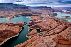Flying over Lake Powell by Gleb Tarro on 500px