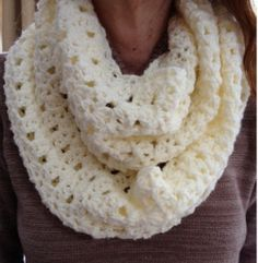 Love You For Infinity Scarf - BEGINNER, 5 MM, #4 OR ARAN YARN