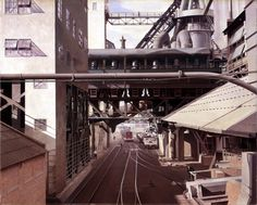 """""""City Interior,"""" Charles Sheeler, 1936, Aqueous adhesive and oil on composition board, Worcester Art Museum."""