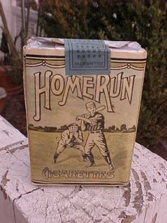 Vintage-Pack-of-Cigarettes-Home-Run-Baseball-Great-Graphics-Liggett-amp-Meyers-NC