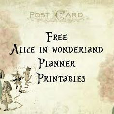 Free Alice in Wonderland planner printables from Lorraine a life less ordinary Alice In Wonderland Printables, Alice In Wonderland Crafts, Alice In Wonderland Tea Party, Free Planner, Printable Planner, Free Printables, Planner Ideas, Happy Planner, Planner Stickers