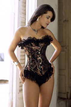 Indulge yourself by getting this sensational new arrival Black Glamour Overbust Corset Bustier in corsets wholesale and . Belle Lingerie, Sexy Lingerie, Lingerie Plus Size, Beautiful Lingerie, Elegant Lingerie, Corset Overbust, Corset Bustier, Burlesque Corset, Pvc Corset