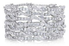 Le bracelet  Adonis Rose  7 rangs de De Beers