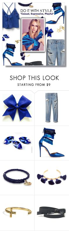 """""""Do It With Style"""" by peony-and-python ❤ liked on Polyvore featuring Gap, Aquazzura, Alex and Ani, Marte Frisnes, VSA, GUESS, Tom Ford, chic, denim and Heels"""