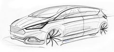 Ford S MAX Concept Design Sketch by Boguslaw Paruch