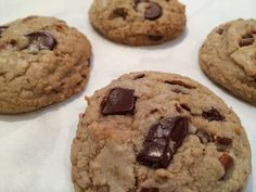 From Curtis Stone's recipe - Chocolate Chunk Cookies with Pecans