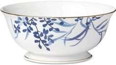 delicate watercolor-inspired florals give a hand-painted feel to the birch way collection for a whimsical accent to fine dining. China Dinnerware, Casual Dinnerware, Great Wedding Gifts, China Patterns, Fine China, Fine Dining, Birch, Serving Bowls, Indigo