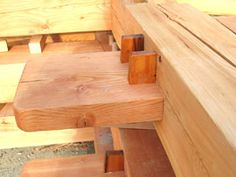 Wedged through tenon