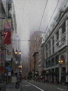 """Downtown Fog"" 2013, oil - Greg Gandy"