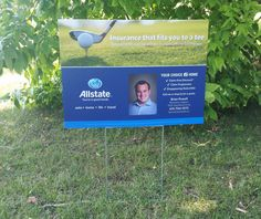 A #lawnsign mounted on #coroplast is a great, budget-friendly option for short term events like golf tournaments.