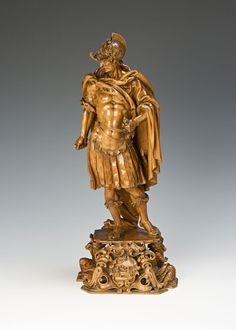 Burghley Collections | Three figures, intricately carved in boxwood, Italian, possibly by an expatriate German craftsman, late 17th Century....
