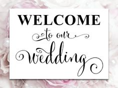 Welcome To Our Wedding Handmade Wooden Sign | wedding stuff ...