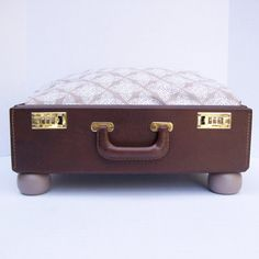 Suitcase Pet Bed from Vintage 60s by Spaghetteria on Etsy, $50.00