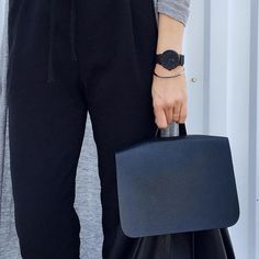 """""""Sleek look by @cota_ra #CLUSE #timepiece #minimal #accessories #backpack #black #fashion #style"""""""