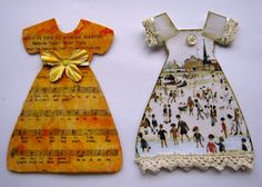 """Sherry's Simple Blog: More Paper Dresses, """"Dainty Dresses"""""""